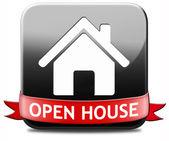 Open house button — Stock Photo