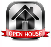 Open house button — Stock Photo