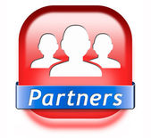 Partners button — Foto Stock