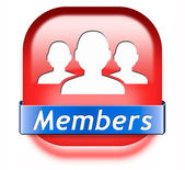 Members button — Stock Photo
