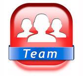 Team button — Stock Photo