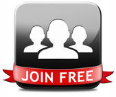 Join free button — Stock Photo