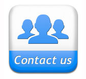 Contact us button — Stock Photo