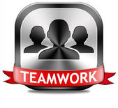 Teamwork button — Stock Photo