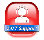 Support button — Stock Photo