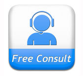 Free consult button — Stock Photo