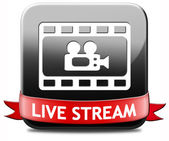 Live stream video or TV — Stock Photo