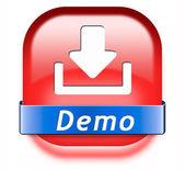 Przycisk pobierz demo — Zdjęcie stockowe