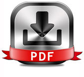 PDF downloadknop — Stockfoto