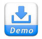 Demo download button — Stock Photo
