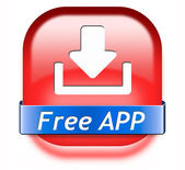 Free app download button — Stock Photo