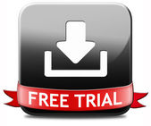 Free trial download button — Stock Photo