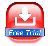Free trial download button — Zdjęcie stockowe