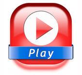 Play button — Stock Photo