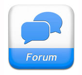Forum button — Stock Photo