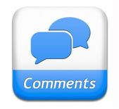 Comments button — Stock Photo