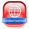 Stock Photo: Globalization button