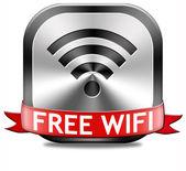 Botão Wi-Fi gratuito — Fotografia Stock