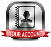 Your account — Stock Photo