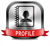 Profile button — Stock Photo