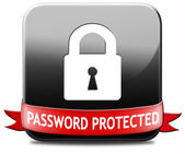 Password protected — Stock Photo