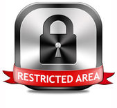 Restricted area — Stock Photo