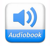 Audiobook button — Stock Photo
