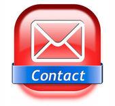 Contact button — Stock Photo