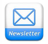 Newsletter button — Stock Photo