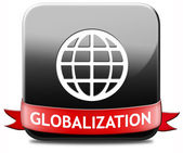 Globalization button — Stock Photo