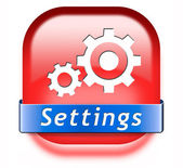Settings button — Stock Photo