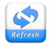 Refresh button — Stock Photo
