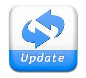 Przycisk aktualizacja — Zdjęcie stockowe