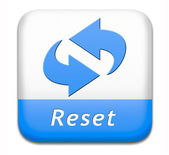 Reset button — Stock Photo