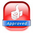 Stock Photo: Approved button