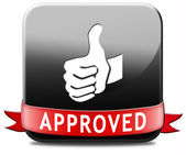 Approved button — Stock Photo
