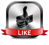 Like button — Stockfoto