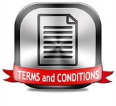 Terms and conditions — Stock Photo