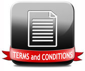 Terms and conditions — Foto Stock