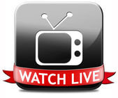 Watch live TV — Stock Photo