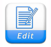 Editing button — Stock Photo