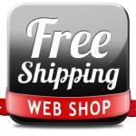 Free shiping web shop — Stock Photo #43287723