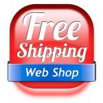 Free shiping web shop — Stock Photo #43287757