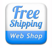 Free shiping web shop — Stock Photo