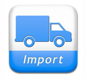 Import international trade — 图库照片