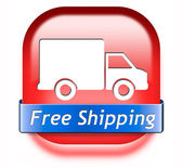 Free shipping package delivery — Stok fotoğraf
