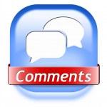 Comments button — Stock Photo