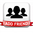 Постер, плакат: Add friend button