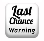 Last chance — Stock Photo