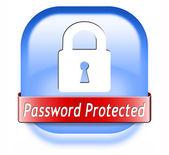Защищенные паролем — Стоковое фото